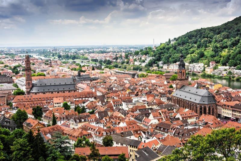 Old Town of Heidelberg stock image