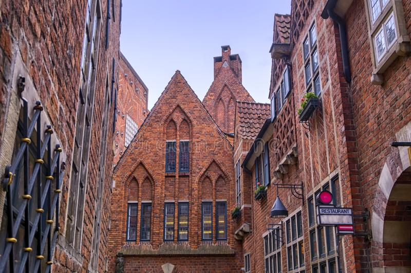Old town historic buildings in Bremen, Germany. Cose upon old town historic buildings, Bremen, Germany royalty free stock image