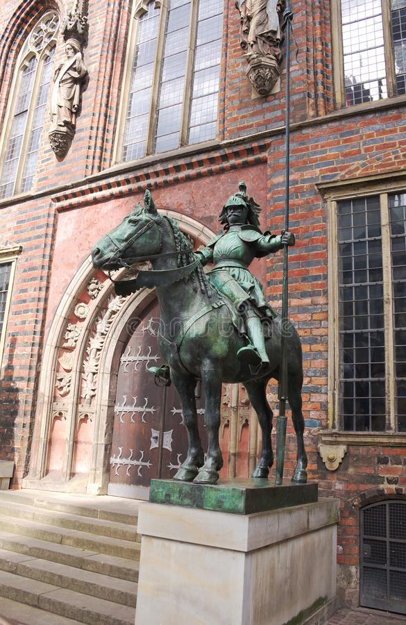 Bremen - herold at the townhall - II -. The Old Town is the historical heart of the city of Bremen. It can be divided into the city centre, the Schnoorviertel in stock images
