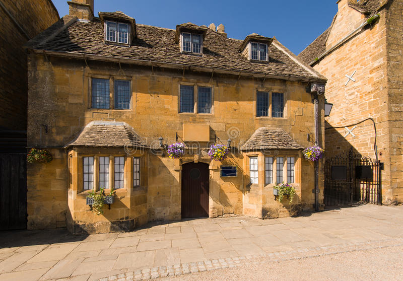 Old town house. In Broadway. Cotswolds, Worcestershire, UK royalty free stock photos