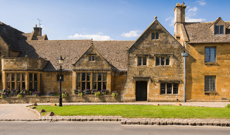 Old town house. On Broadway high street. Cotswolds, Worcestershire, UK stock photography