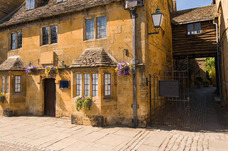Old town house. On high street of Broadway, Cotswolds,Worcestershire, UK stock photos