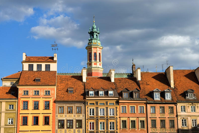 Old Town Houses in Warsaw, Poland. Houses in the Old Town, Warsaw, Poland stock images