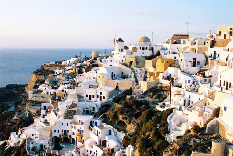 Old town Ia on Santorini royalty free stock photography