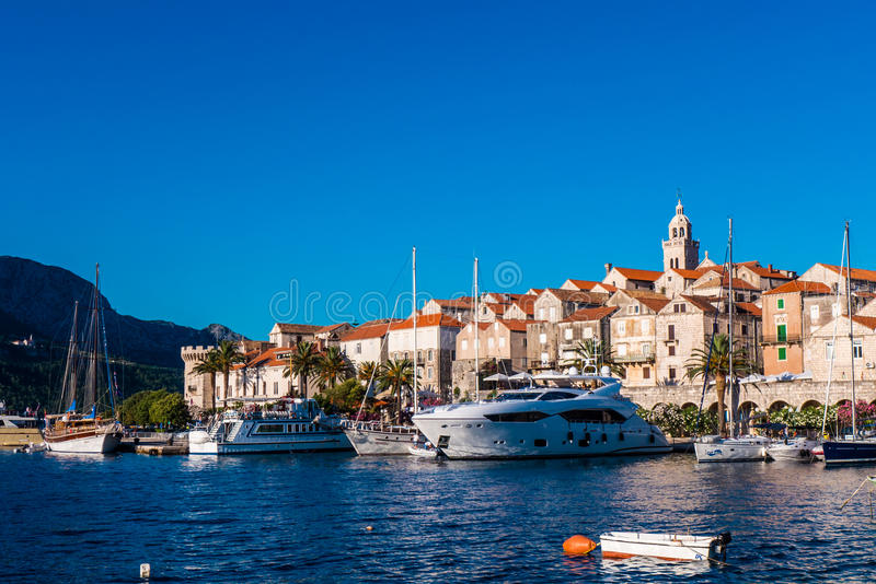 Old town of Korcula royalty free stock photography