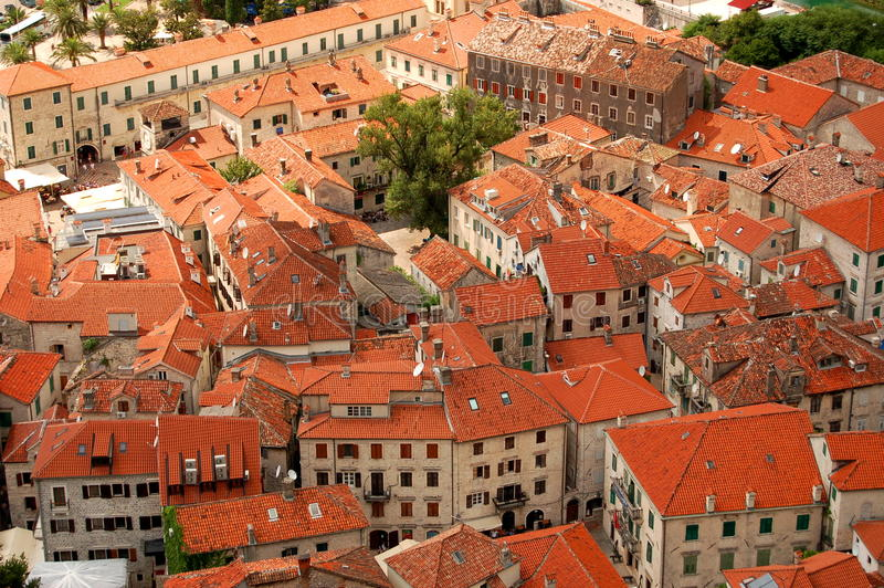 The Old Town of Kotor, Montenegro stock image