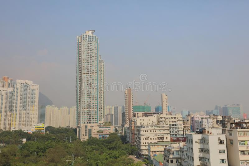 Old town of kowloon city hong kong. The old town of kowloon city hong kong stock photo