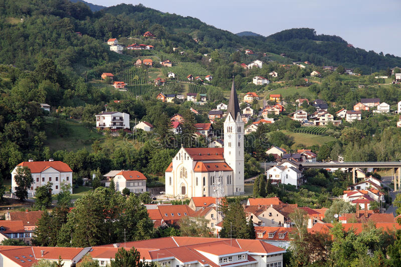 Old town Krapina royalty free stock image