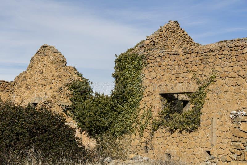 Old town of Las Menas of Seron stock images