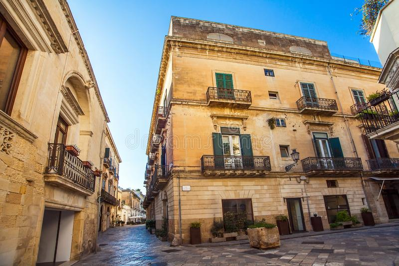 The old town of Lecce Apulia Italy royalty free stock photography
