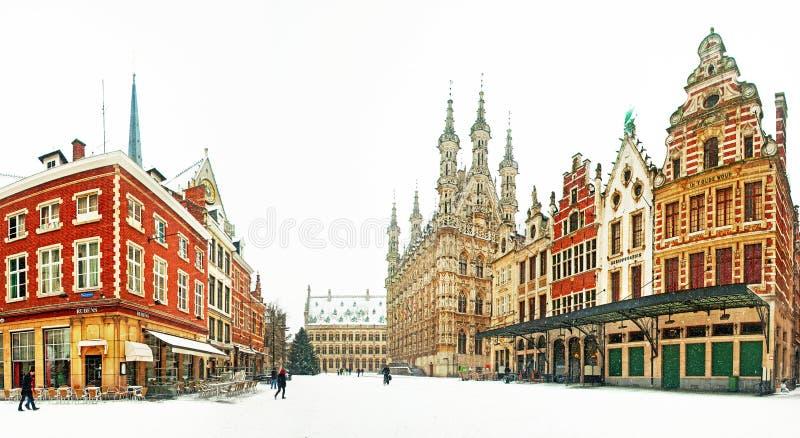 Old town of Leuven stock photo