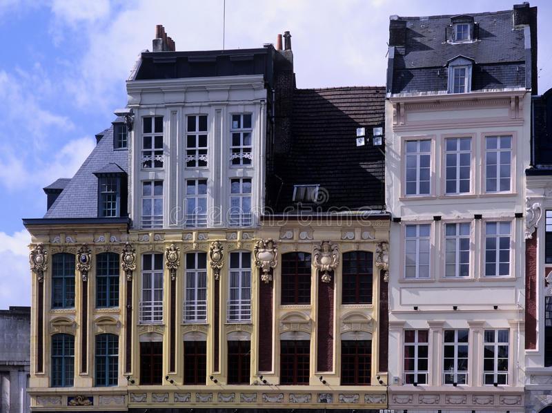 Old town lille. Nord, nord-pas-de-calais, france - main square - grand place stock photo