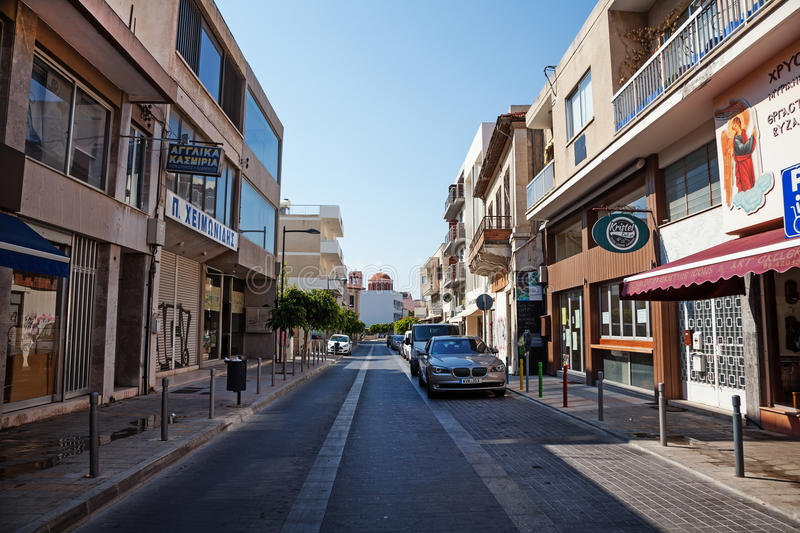 Old town. Limassol Lemesos, Cyprus. Limassol Lemesos, Cyprus - July 17, 2015: Streets of an old town stock image