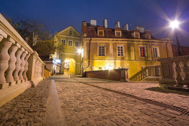 Download Old Town Of Lublin At Night Stock Photo - Image: 32909526