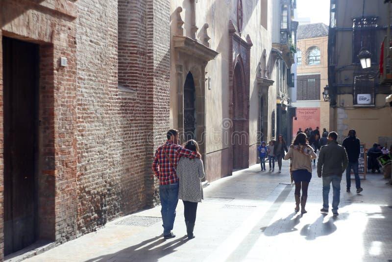 Old town Malaga stock photos