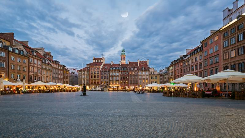 The Old Town Market Square in Warsaw. Poland stock photography