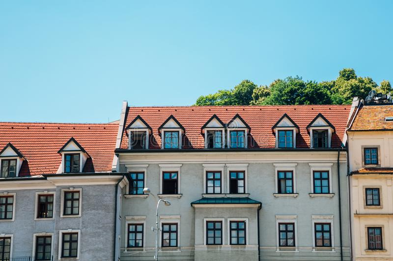 Old town medieval buildings in Bratislava, Slovakia. Europe royalty free stock image