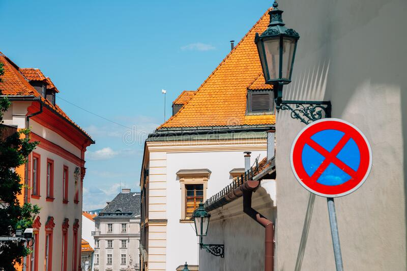 Old town medieval houses in Brno, Czech Republic. Europe stock image