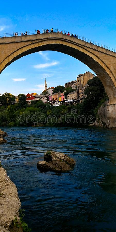 The Old Town of Mostar royalty free stock photo