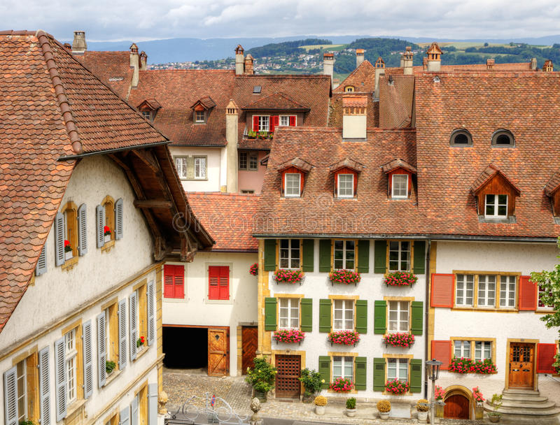 Old town Murten, Switzerland royalty free stock photography