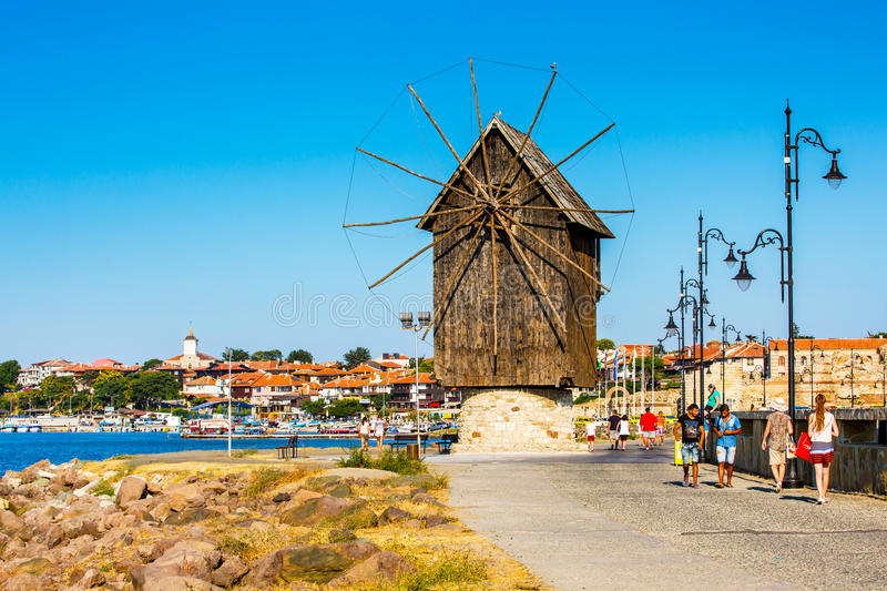 Old Town of Nesebar in Bulgaria by the Black sea royalty free stock photos