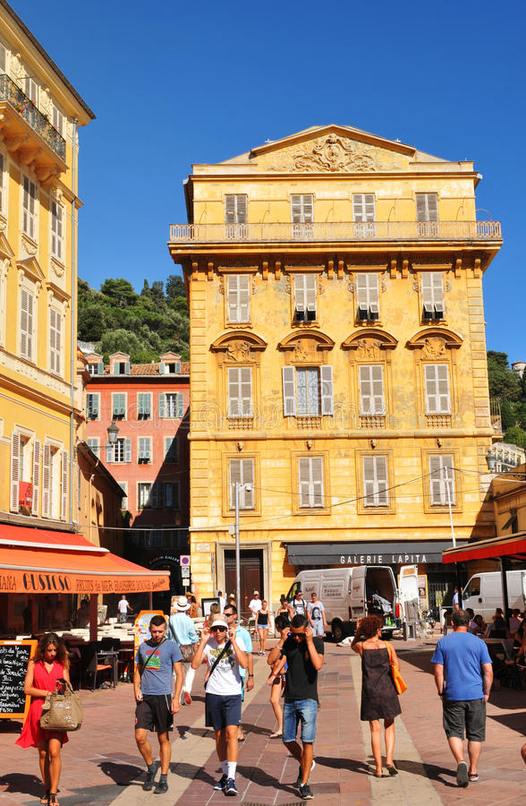 old town of nice france editorial stock photo image of buildings 33599093. Black Bedroom Furniture Sets. Home Design Ideas