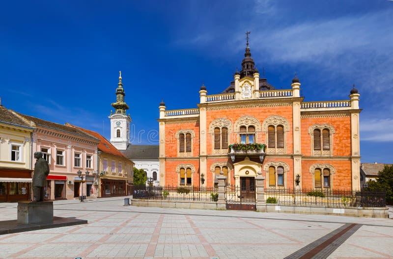 Old town in Novi Sad - Serbia. Architecture travel background stock photo