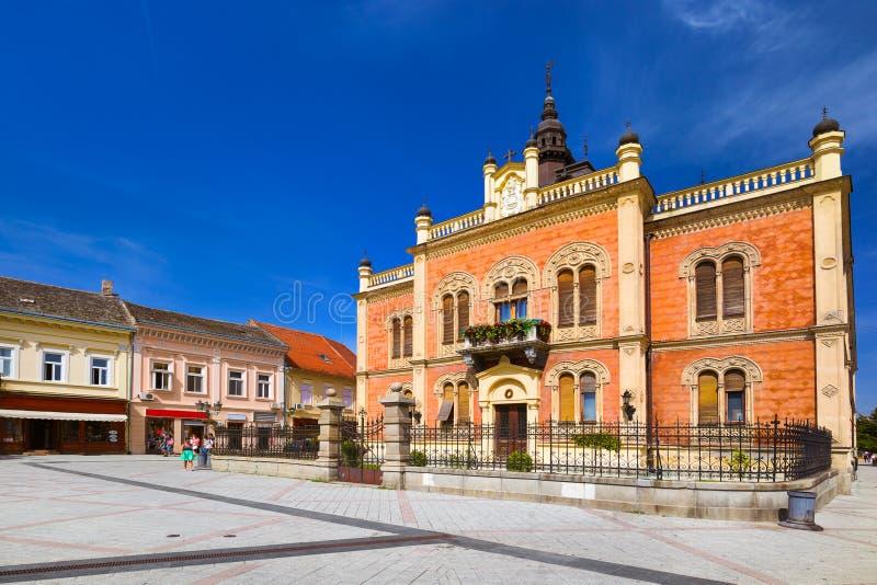 Old town in Novi Sad - Serbia. Architecture travel background stock photos