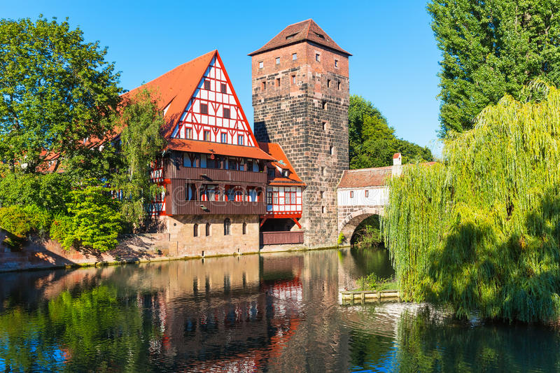 Old Town in Nuremberg, Germany royalty free stock images