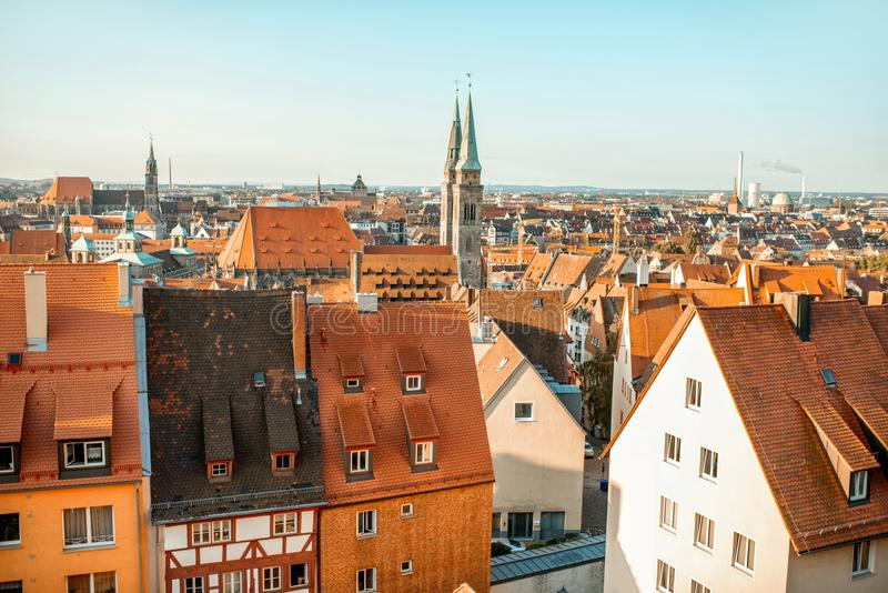 Old town in Nurnberg city, Germany stock photo
