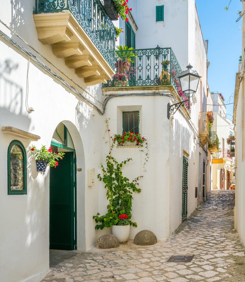 Old town in Otranto, province of Lecce in the Salento peninsula, Puglia, Italy. royalty free stock photography