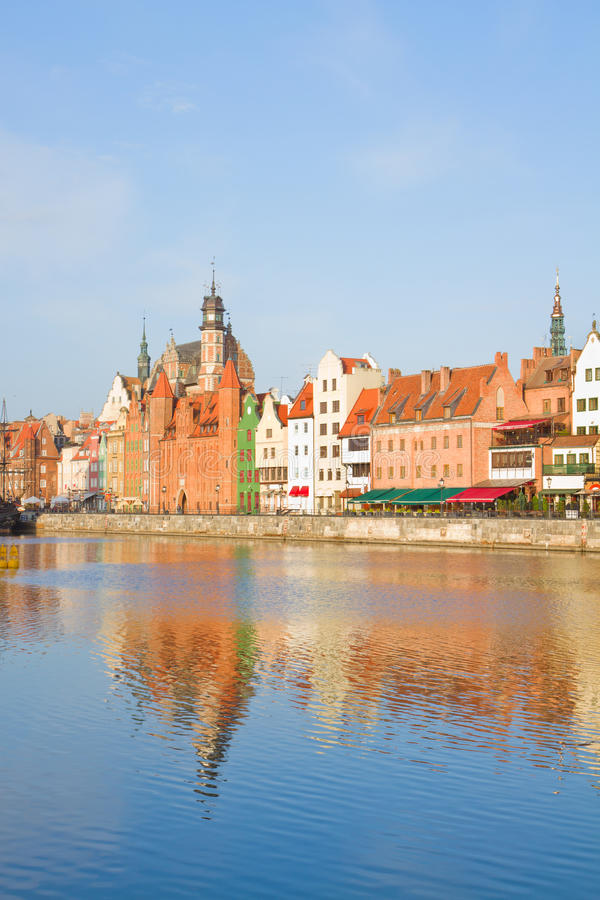 Download Old Town Over River Motlawa, Gdansk Stock Photo - Image: 33696424