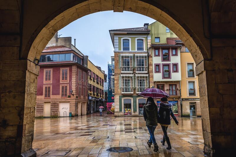 Old Town of Oviedo royalty free stock images