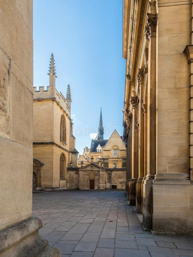 Old Town in Oxford Empty Street royalty free stock photo