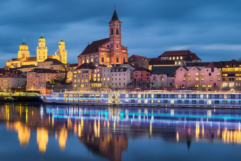 Old Town of Passau, Germany stock photo