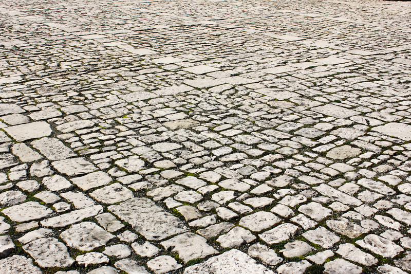 Old Town Pavement Texture stock photography