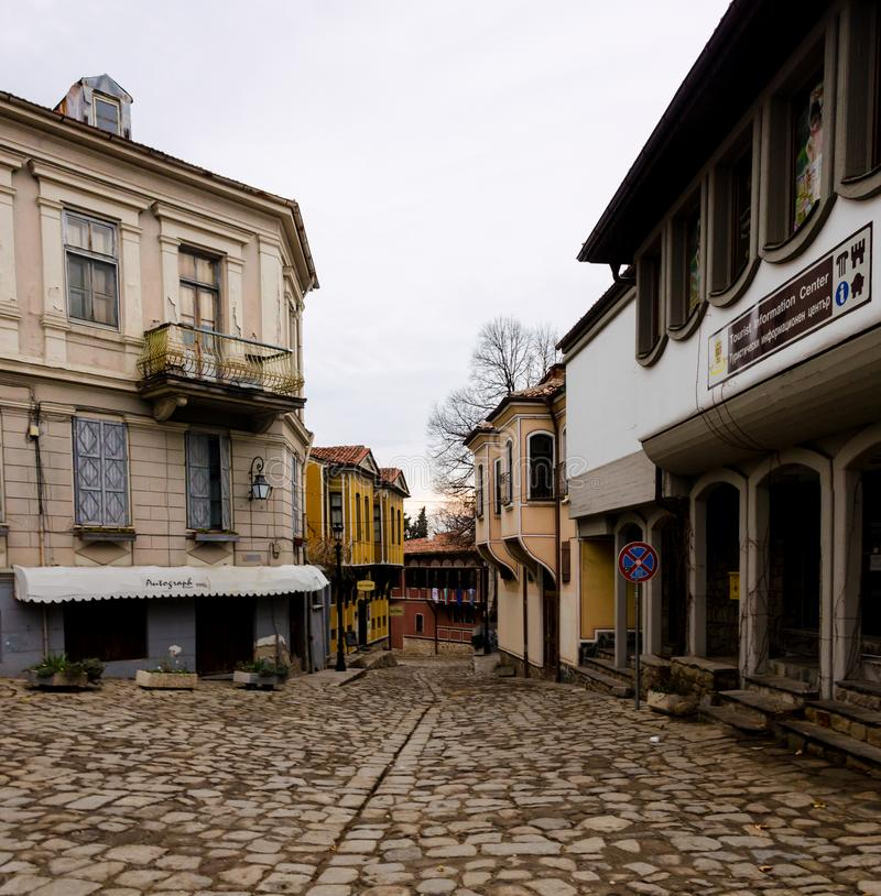 Old town of Plovdiv city, Bulgaria stock photo