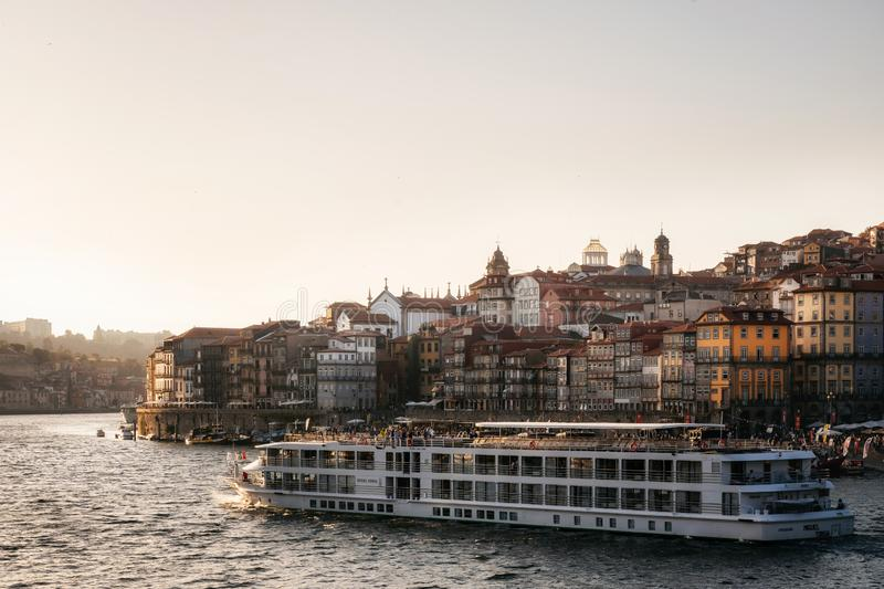 Old town of Porto on Douro River, Portugal stock images