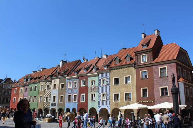 Old Town of Poznan stock photography