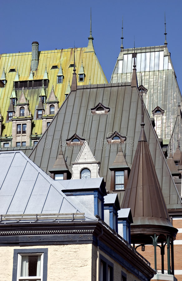 Old Town Quebec stock images