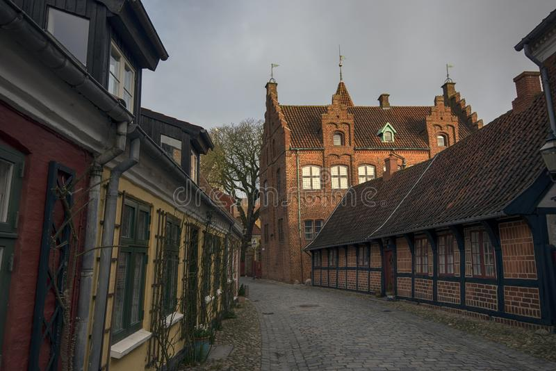 Old town Ribe in Denmark royalty free stock photography