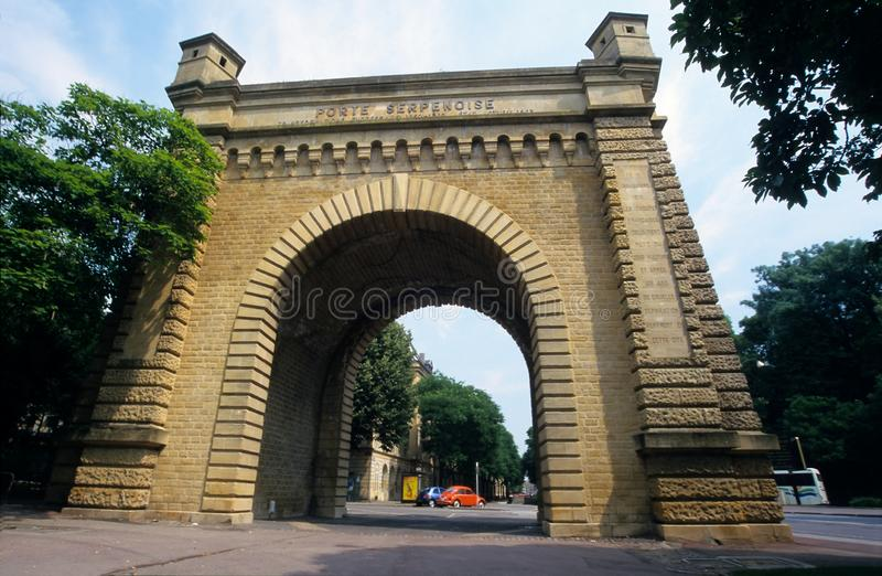 Old Town S Gate Porte Serpenoise At Metz Stock Photography