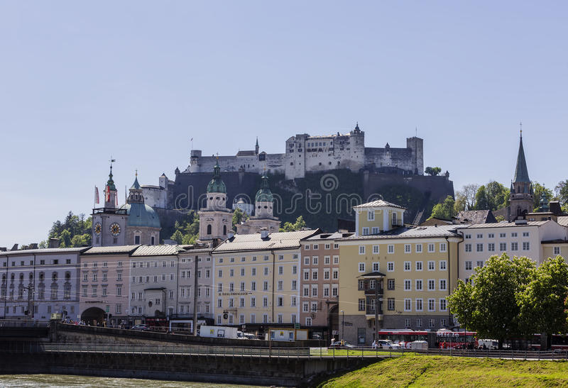 Old Town of Salzburg stock photography