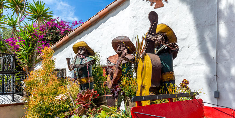 Old Town San Diego. Decorations in Old Town San Diego, California stock photo