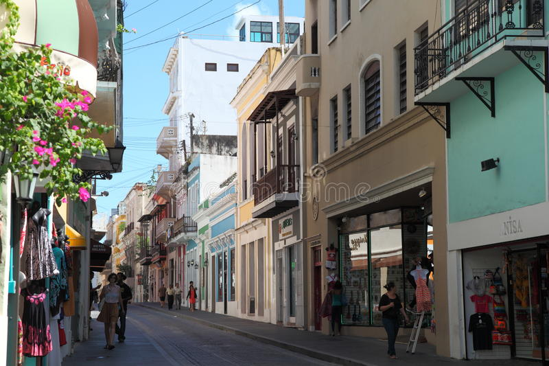 Old town, San Juan. Colony Style Houses and buildings in old Town, San Juan stock photos