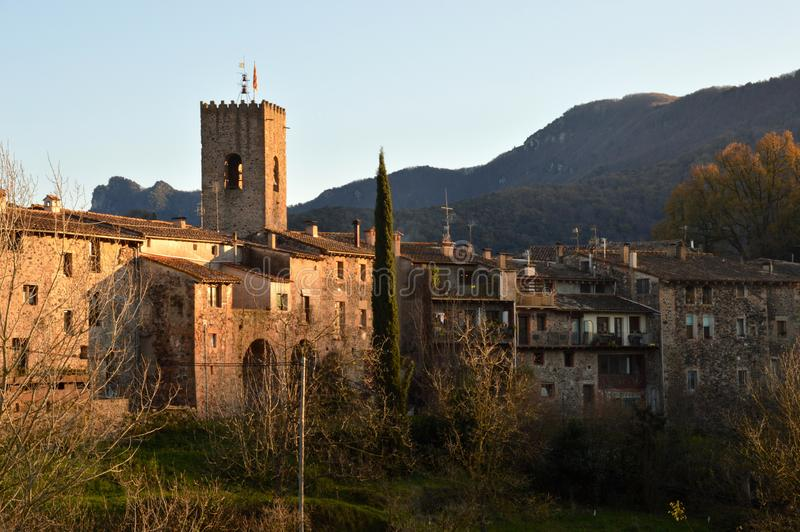 Town of santa pau royalty free stock images