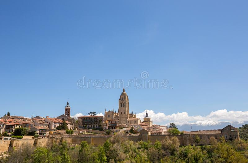 Cathedral of Segovia stock photos