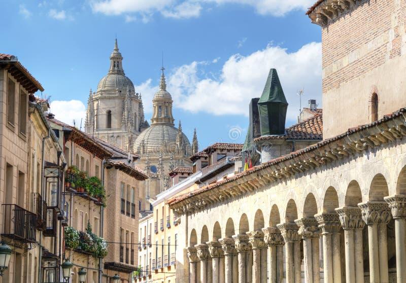 Old town of Segovia, Spain stock photos