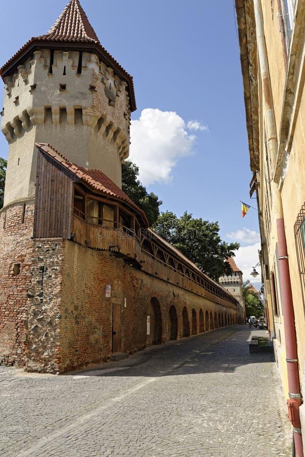 Old Town Sibiu Romania Cetatii Street 2 stock photography