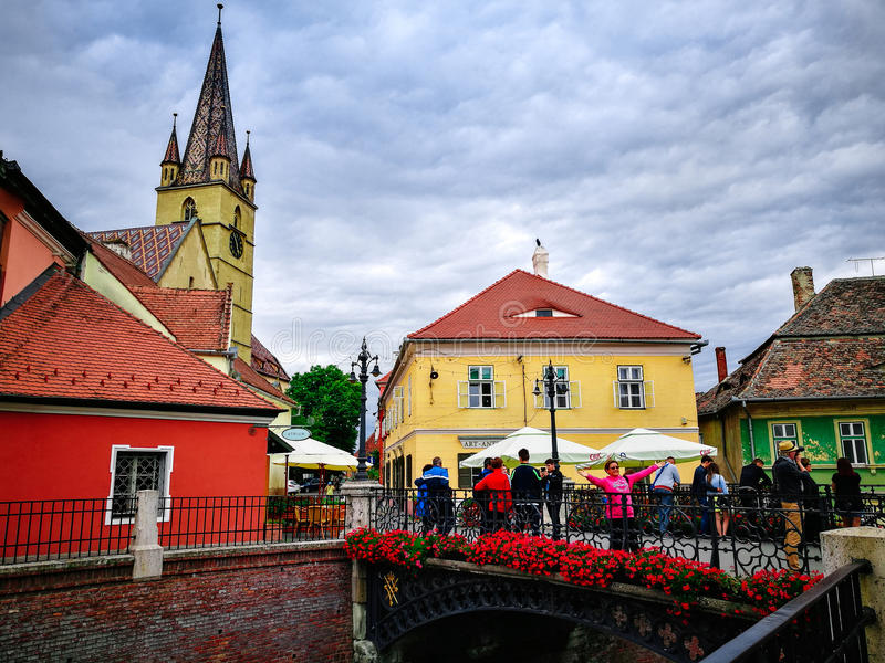 Old Town Sibiu. Scene from Old Town Sibiu royalty free stock images